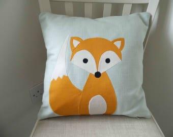 Handmade Fox Cushion for Baby's nursery or Children's Bedroom