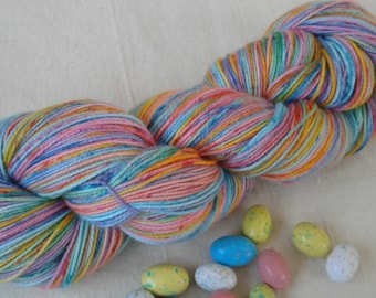 Self-Striping Speckled Robin's Egg Superwash Merino and Nylon Sock Yarn