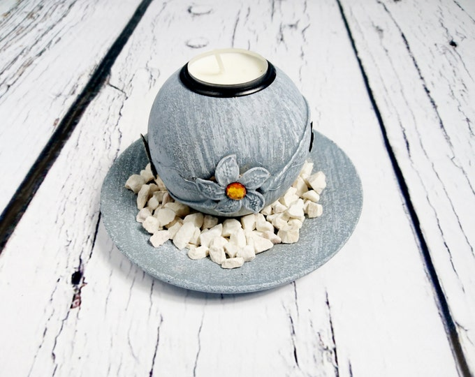 Wooden candleholder ball centerpiece silver orange peach white elegant custom colors stones table decor cheap wedding decoartion