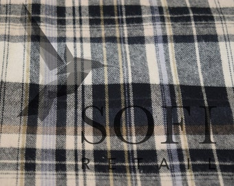 Cotton Flannel Plaid 22 Tartan Fabric by the Yard