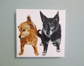 Custom Pet Portrait in Acrylic (5 x 7)