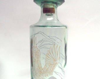 Vintage Old Fitzgerald Prime Wildlife Liquor Decanter Bottle - American Bald Eagle