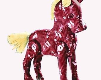 6 Vintage Jointed Stuffed Animal Full Size Patterns  Bunny  Kangaroo  Elephant  Pony  Penguin Pig 2 Dolls... J245