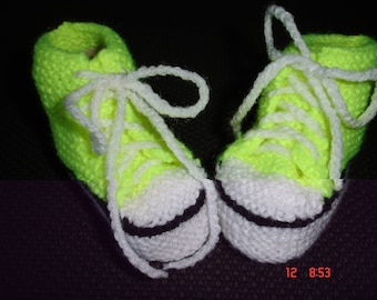 Basketball sports baby booties.