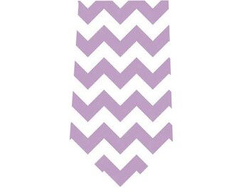 Men's Tie Lavender Chevron Necktie