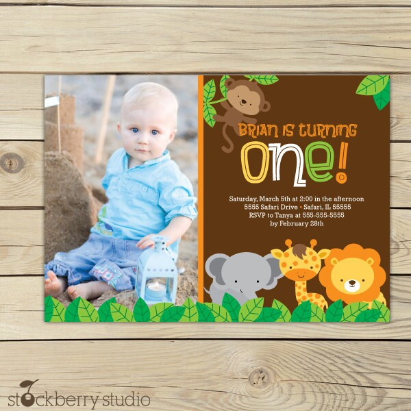 Birthday invitation printable jungle party safari zoom filmwisefo Image collections