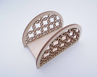 Wooden Napkin Holder for Crafts - Laser Cut - Wooden Napkin Holder - Letter Holder - Tissue Holder