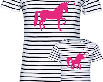 """T-shirt """"Unicorn"""" for mother and daughter, set price!"""