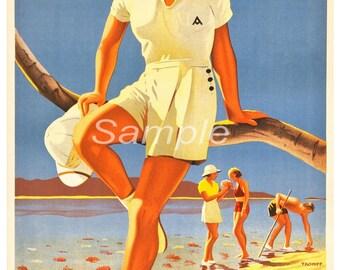 BR02 Vintage Australia Great Barrier Reef Poster Print