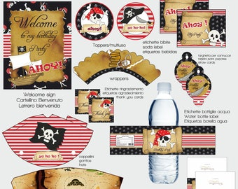 INSTANT DOWNLOAD Pirate Printable  Party