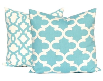 Decorative Pillow Covers - Blue Pillow Covers - Pair of Two - Throw Pillow Covers - Blue Bedding - Sofa Pillow covers - Pillows for Couch