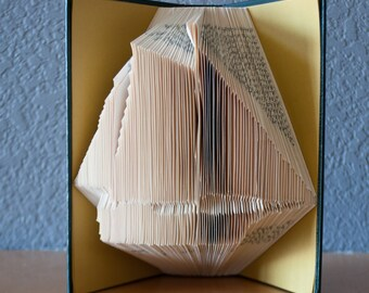 Folded Book Art - Ship - Sailing - Two Years Before the Mast - Unique Gift - Home Decor