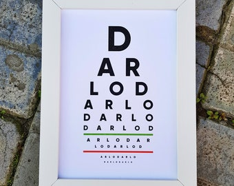 Darlo Eye Test (A4 Poster - Unframed)