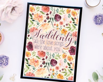 Suddenly *DIGITAL* Print! Perfect for Wall Art, Planner/TN Dashboards, etc.