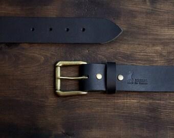 "Leather belt for Men, black belt, Mens Belt,Men's leather belt, Water Buffalo Leather(1.5"" wide)***FREE SHIPPING to USA"