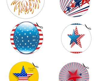 4th of July Coaster A1-Background-Digital ClipArt-Art Clip-Digital-Party-Gift Tag-Notebook-CakeTopper-Scrapbook-banner-gift card.