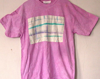 Girls Pink T-Shirt,  size 18/20, youth XL, tie dyed patch, Beach Coverup