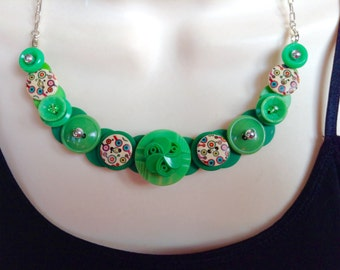 In the Limelight button necklace