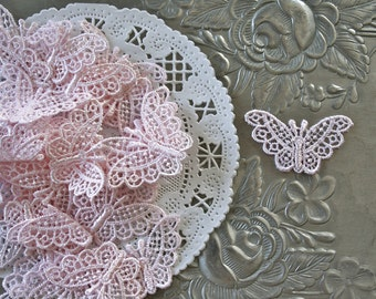 6 Butterfly Venise Venise Lace Applique