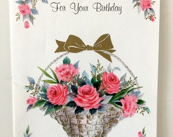 Vintage Flowers Birthday Cards ~ Vintage botanical graphics july