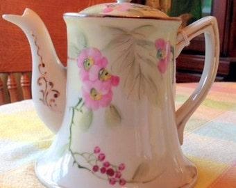 Vintage Japanese Hand Painted Porcelain Teapot