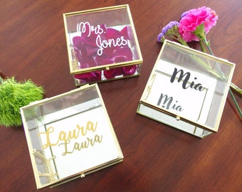 Personalized Jewelry Box with Name Trinket Box Bridesmaid Gift / Personalized Gift / Maid of Honor / jewelry storage/ Birthday