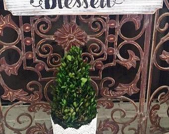 Blessed sign, wood sign, shabby chic sign, farmhouse sign, farmhouse decor, home decor