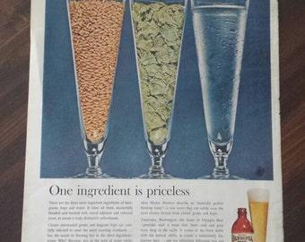 Vintage Olympia Beer Magazine Ad 1960s