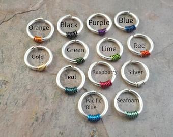 18 Gauge Surgical Steel Hoop Earrings You Choose Wire Color