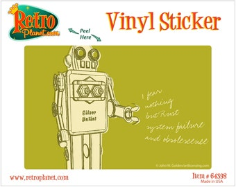 Robot Fear Nothing Lunastrella Vinyl Sticker - #64398