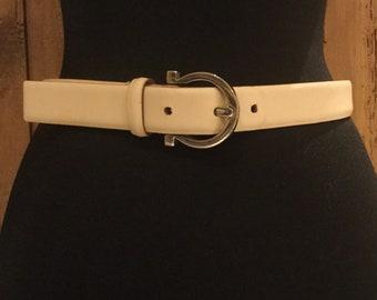 Salvatore Ferragamo Women's Tan Leather Belt
