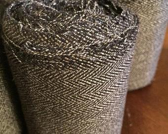 Winingas - Viking - Norse - Anglo-Saxon Leg Wraps Off-Black herringbone weave