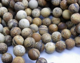 38 Jasper 10 mm a beautiful beige caramel camel jaspe round