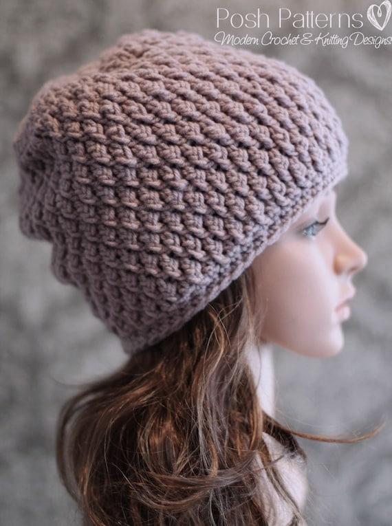 Crochet PATTERN Crochet Pattern Hat Crochet Slouchy Hat