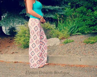 """Women's Palauchos Hip Sizes 32""""-58"""" Wide Leg, Loose Fit with Yoga Style Waistband"""