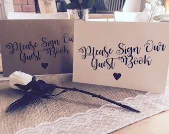 Rustic/ Vintage Please Sign our Guest Book Sign