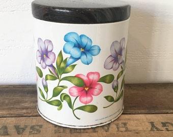 Vintage Foxes Glacier Mints Retro Floral Tin, Storage, Display