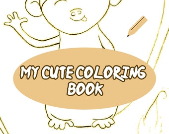 cute colouring book for children animals