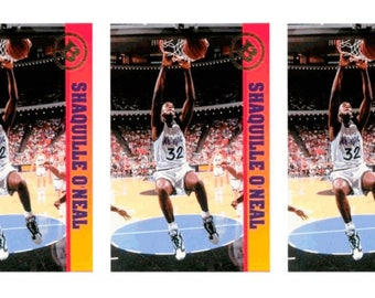 5 - 1993 Ballstreet Shaquille O'Neal Version 3 Basketball Card Lot Orlando Magic