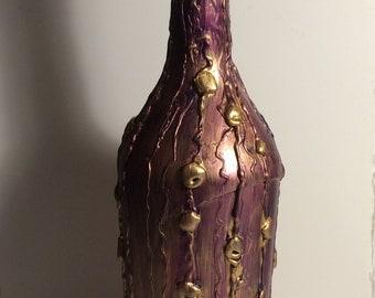 Gold and Violet Bottle