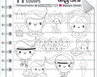 Sport Stamp, 80%OFF, Commercial Use, Digi Stamp, Digital Image, Sport Digistamp,  Olympic Day Digistamps,  Olympic Stamps, Games, Athletics