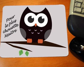 """Mousepad message """"for the great master"""" teacher gift"""