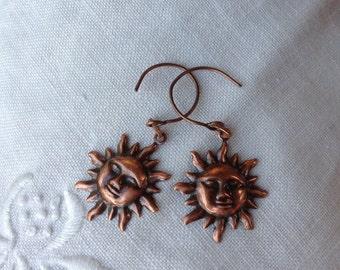 osO SOLARE Oso copper sunshine pendant earrings