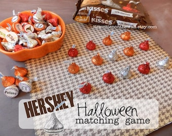 Halloween Matching Game / Hershey Kiss Tags /Kids Party Game / Party Favor / Halloween Candy / Co-Workers Treats