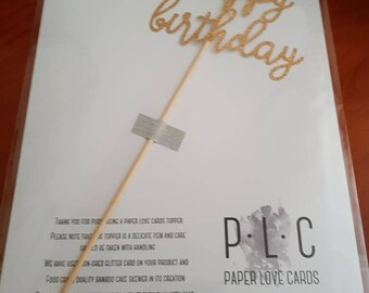 Cake Topper - Happy Birthday