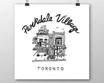 Parkdale Village Print