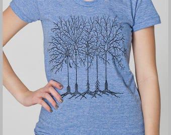 Arrow Trees Women's Boho T Shirt Arrowhead Feathers Ladies Nature American Apparel Tee s, m, l, xl  8 COLORS