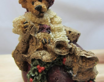 "Vintage Boyds Bear ""Edmund Deck the Halls"" #1E/2343 Figurine"