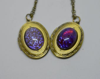 Dragon's Breath Opal Locket