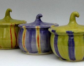 Ceramic Jar with Lid - Harvest Jar -  Spice Jar - Decorative Jar -  Ready to Ship - Hand  Thrown Stoneware Pottery